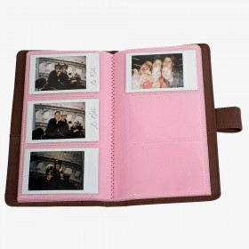 Album photo Instax mini brun